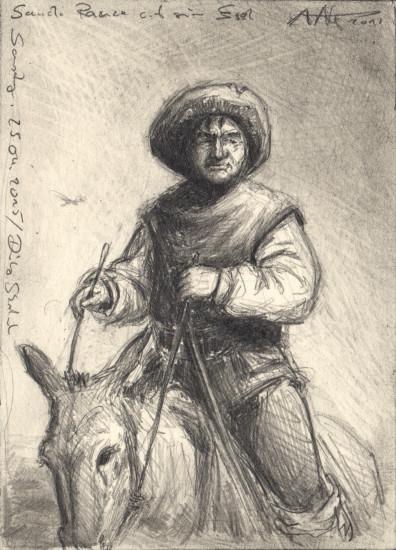 Sancho Panza on his Donkey