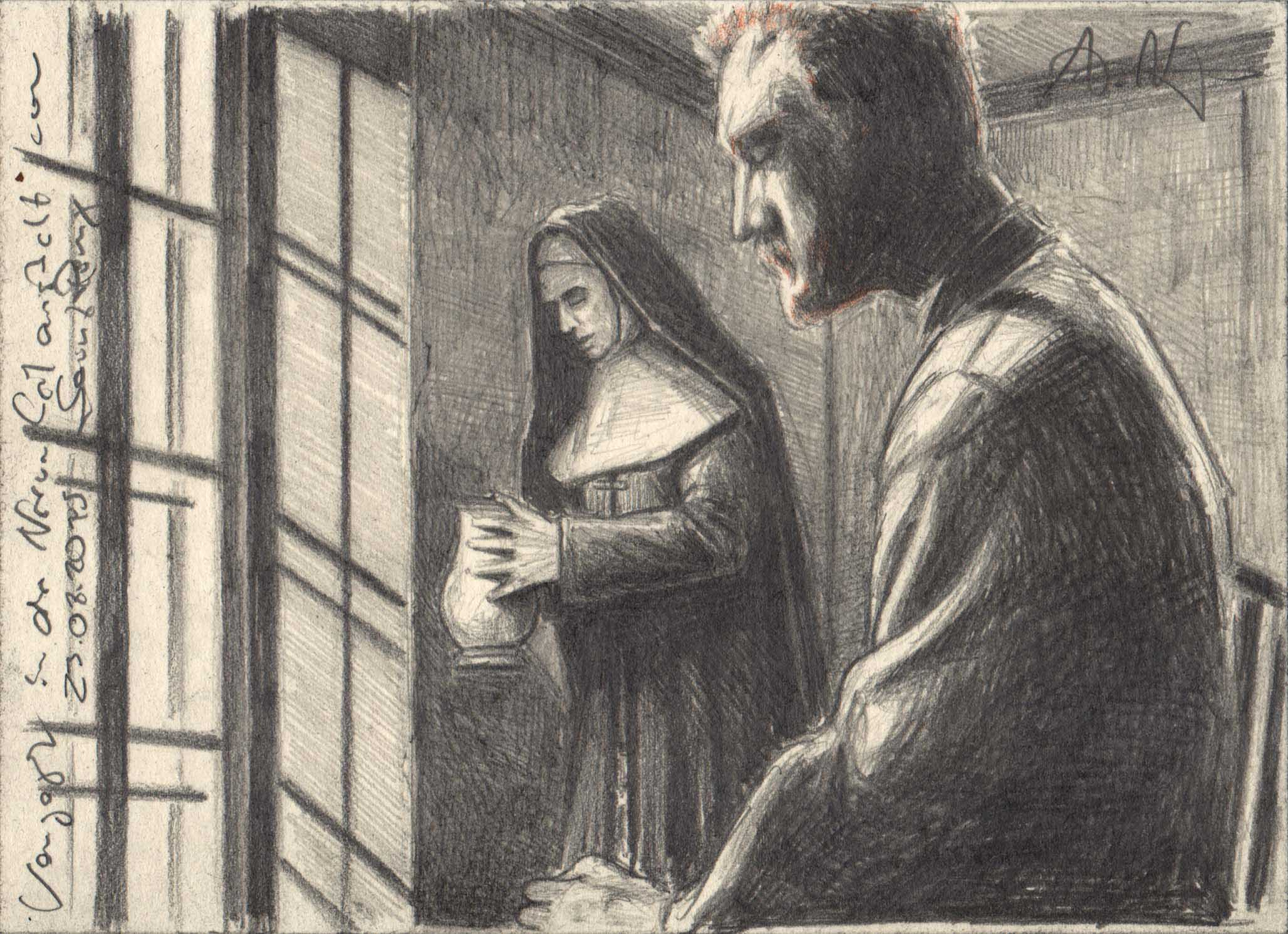 Van Gogh in the mental hospital of Saint Rémy