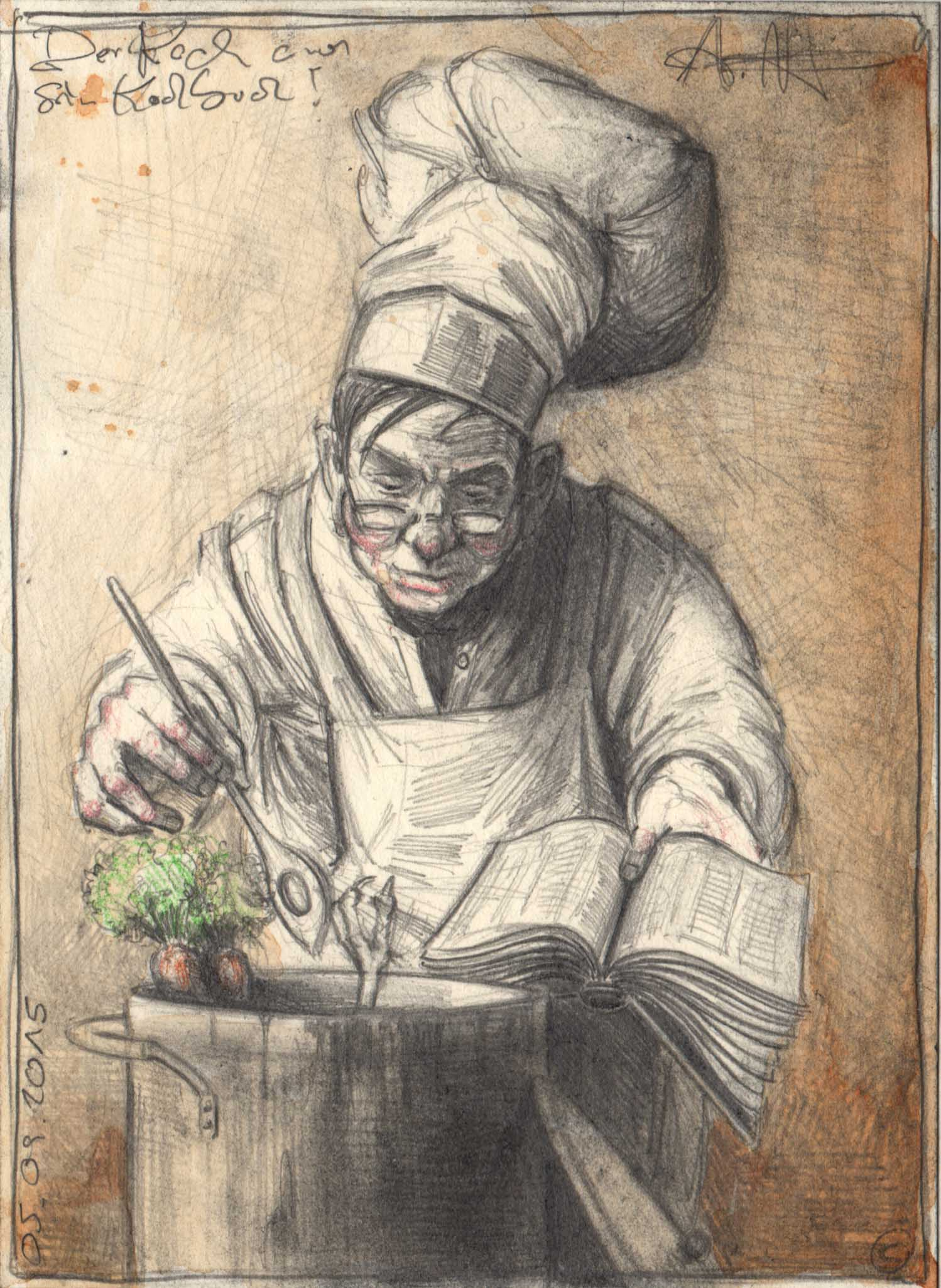 The Cook and his cooking Book