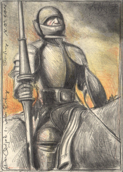 Don Quijote in full Armor
