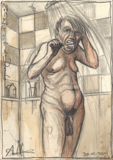 Dental care in the shower
