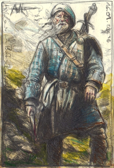 Highlander with Broadsword