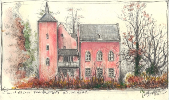 Country Castle in autumn