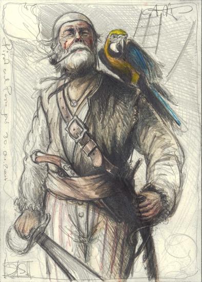 Pirat an Parrot