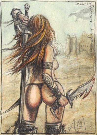 Barbarian femal Warrior