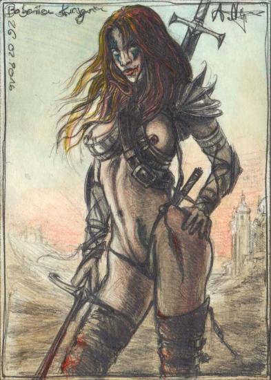 Barbarian female Warrior