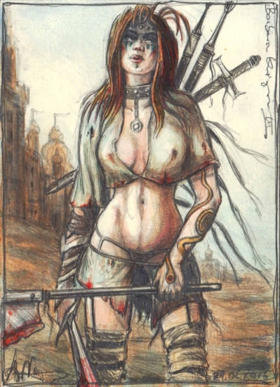 Barbarian female Warrior III.
