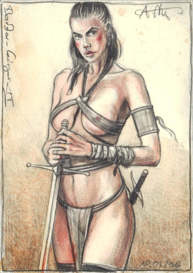 Barbarian female Warrior IV.