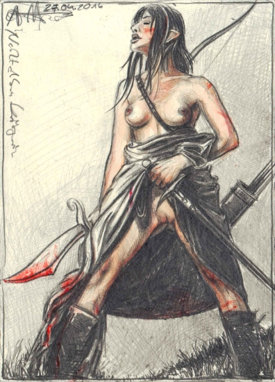 Female Night Elv Warrior