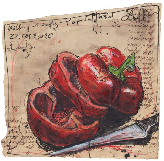 Killing me softly - bell pepper dead, in red