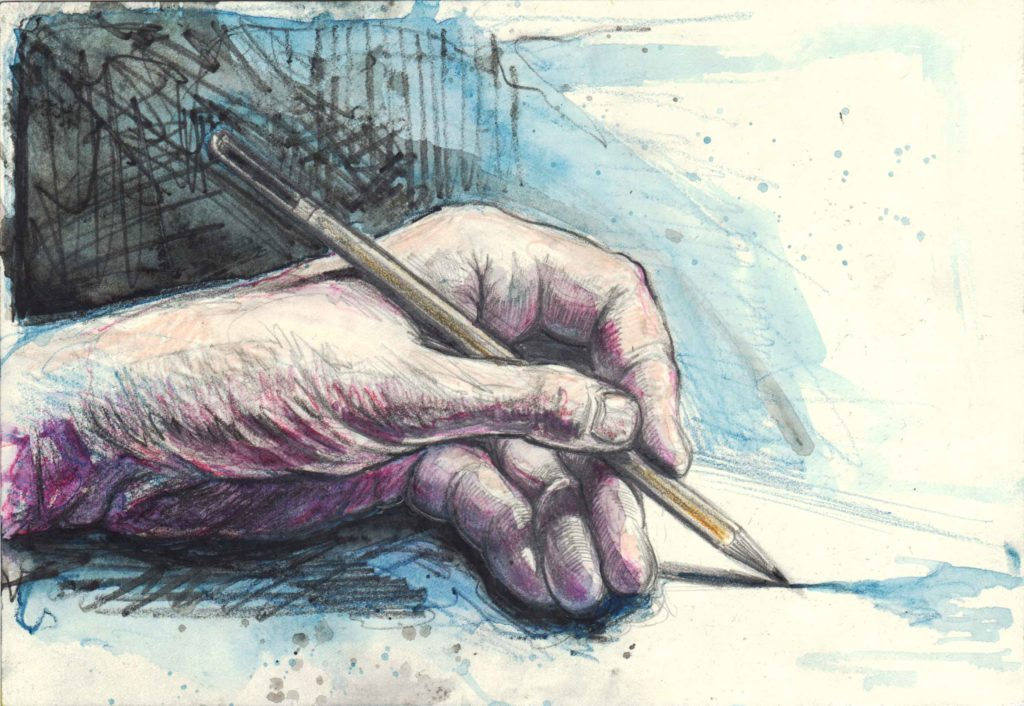 Left hand drawing II.