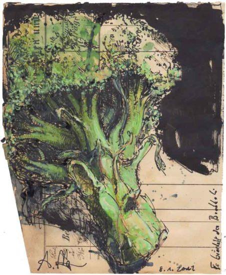 It´s crumbling the broccoli