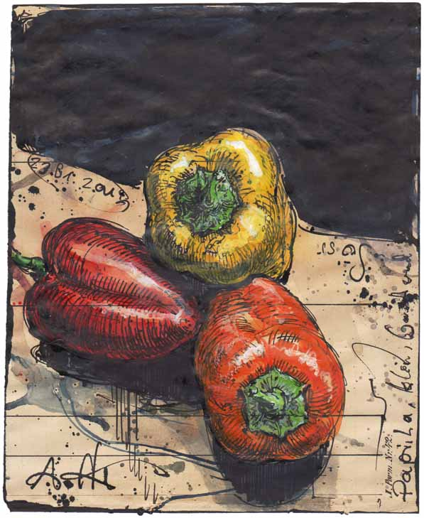 Paprika, small, colored and sweet