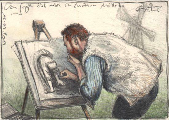Van Gogh practise motifs of Millet