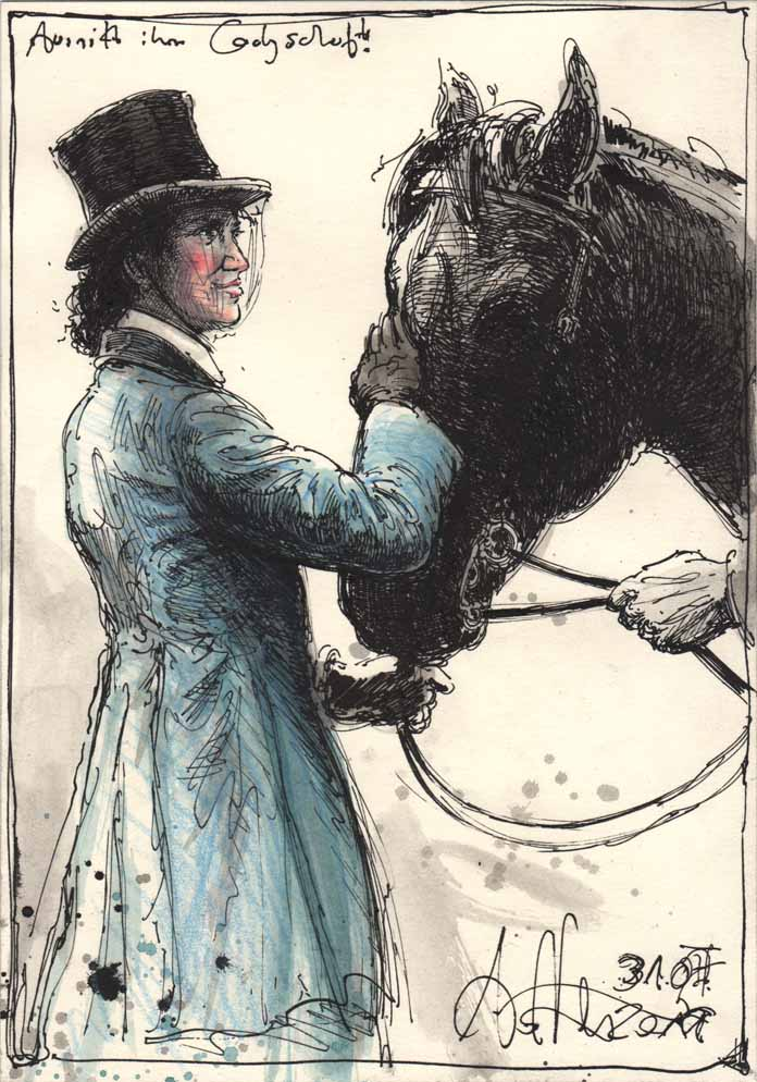 Riding her ladyshaft