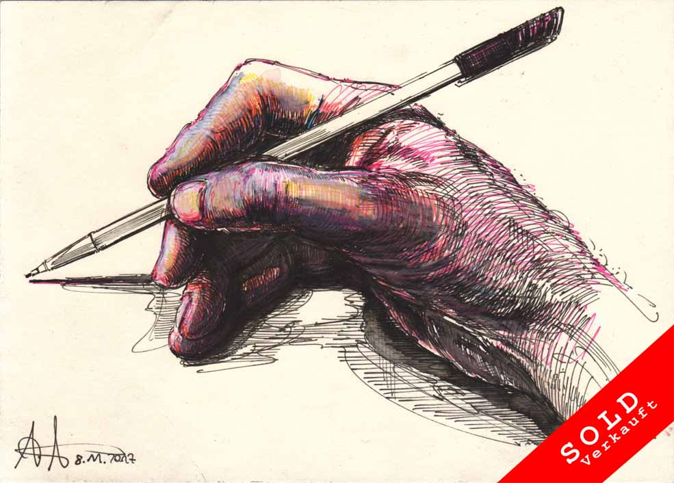 Even a right-handed person can draw