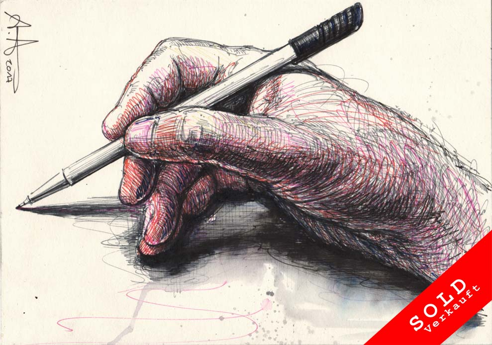 Even a right-handed person can draw (Light Version)