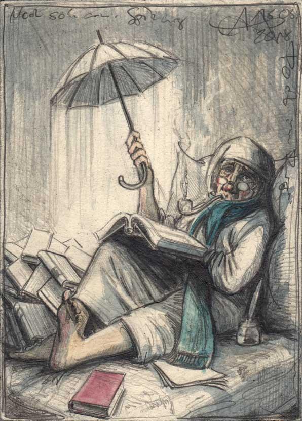 Another poor Spitzweg poem in the rain