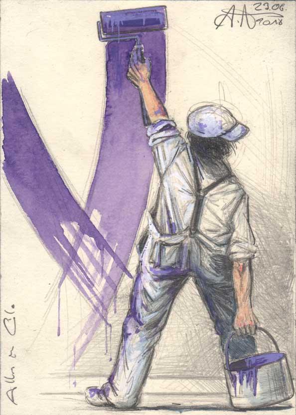 All in violet