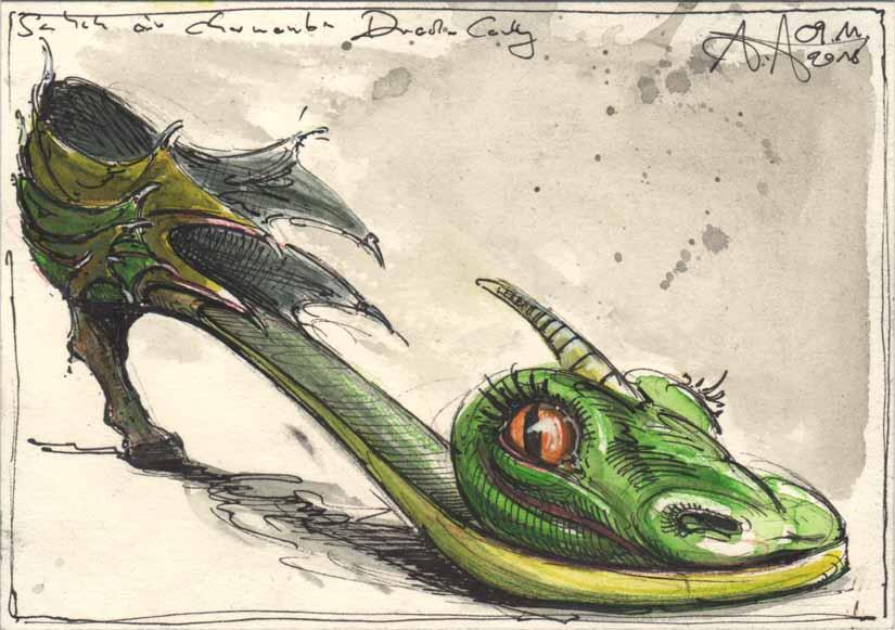 Shoe of a charming dragonlady