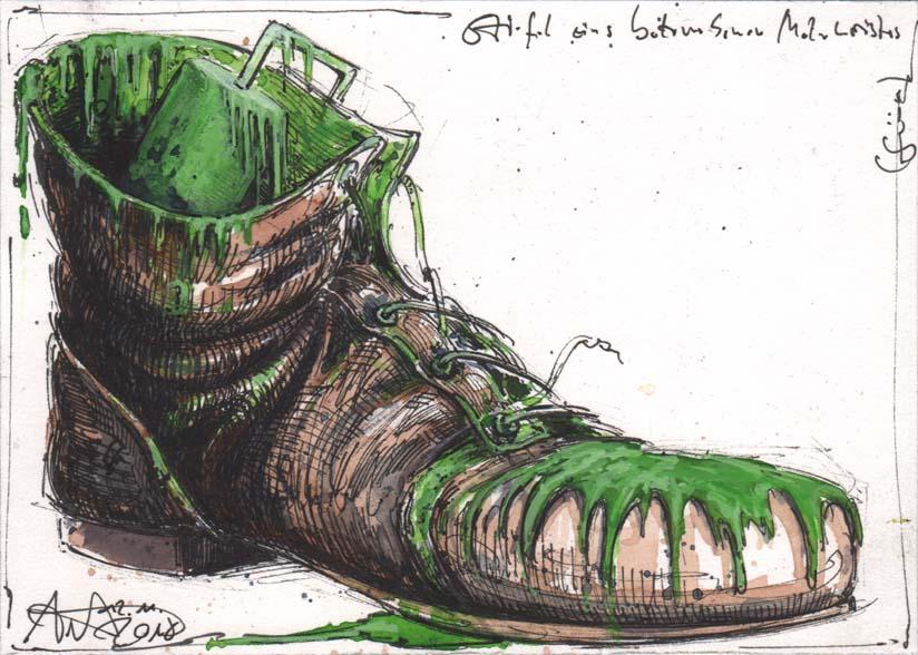 Boot of a drunken master painter (green)