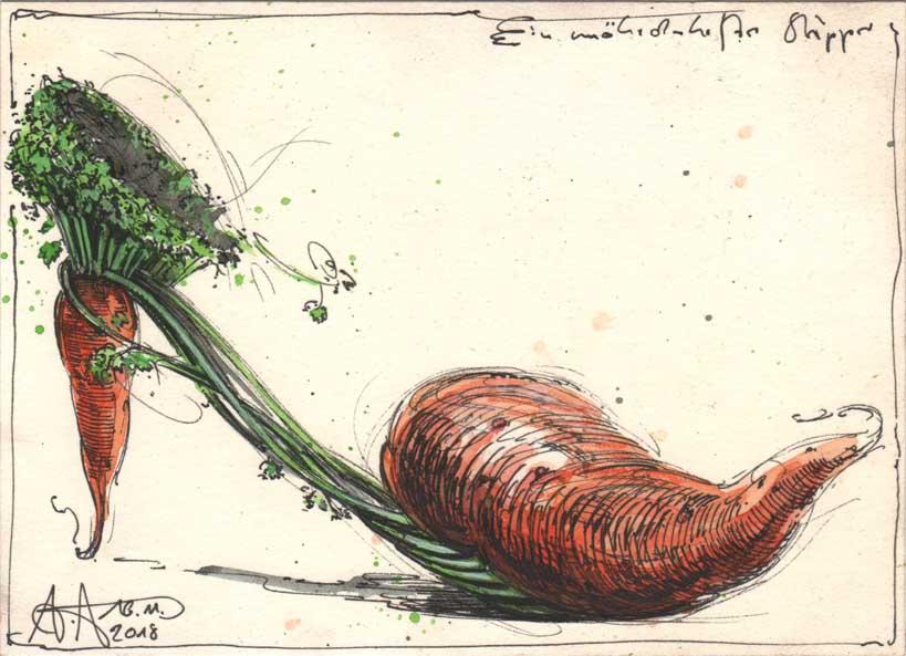 A fairy carrot slipper