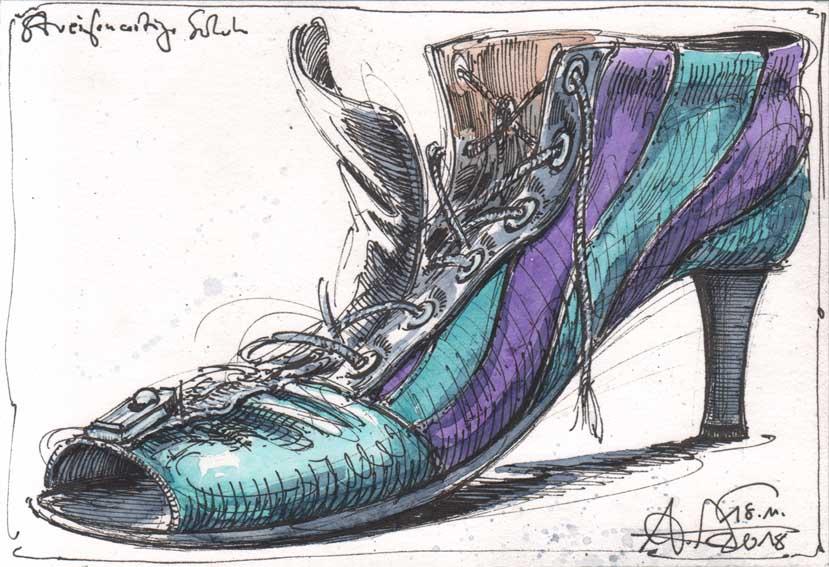 A kind of a stripe shoe