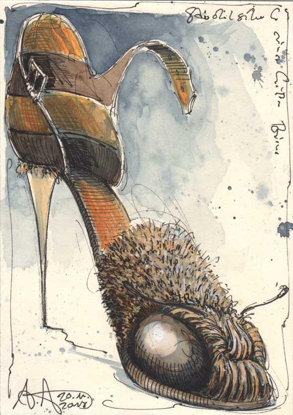 Highheel of a hot bee