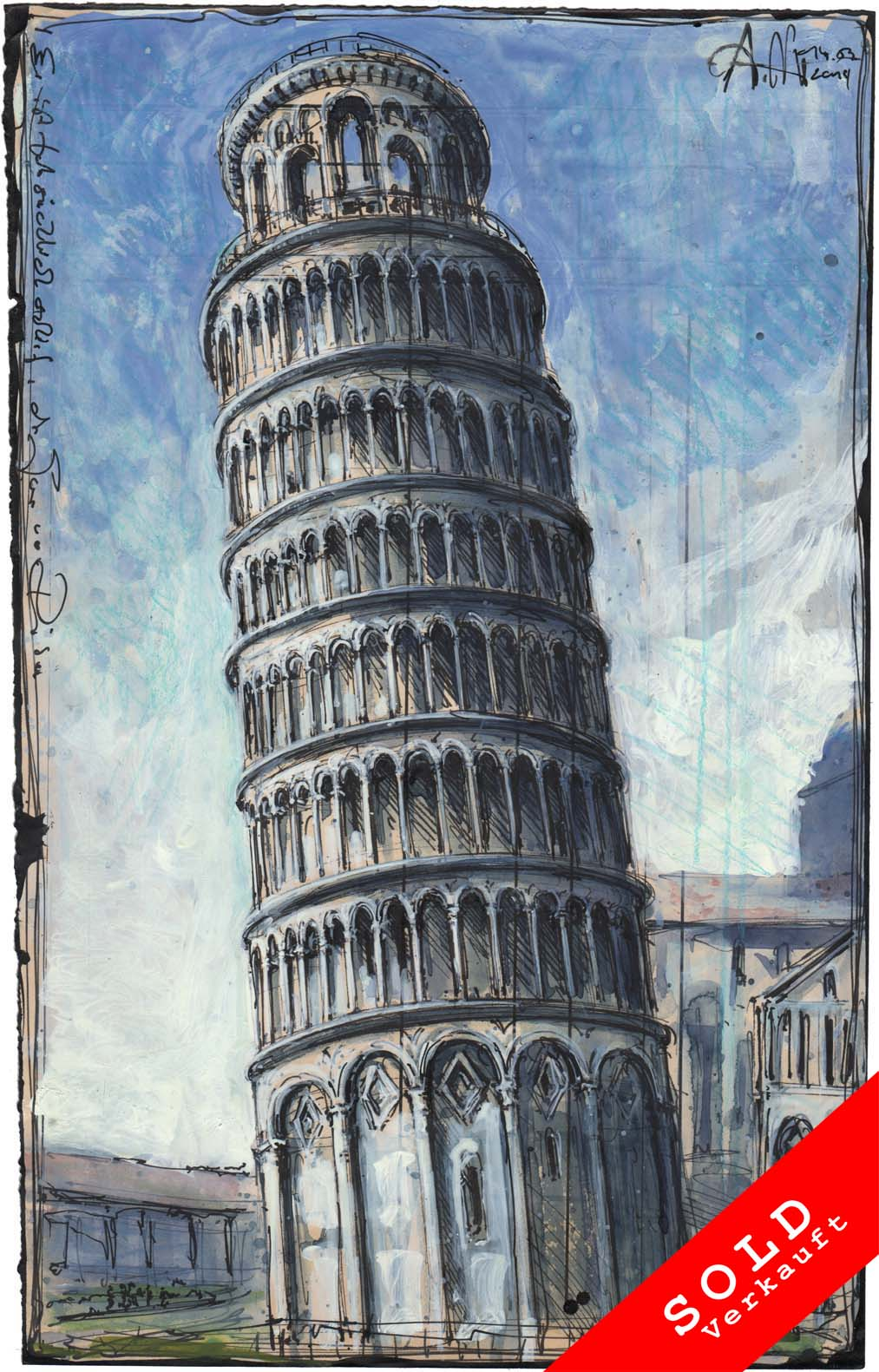He is actually wrong, the Tower of Pisa