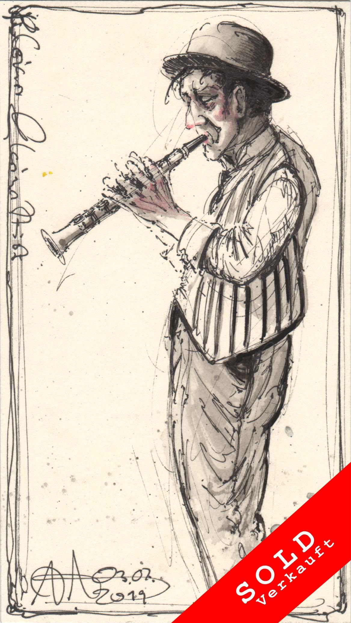 Tiny clarinettist