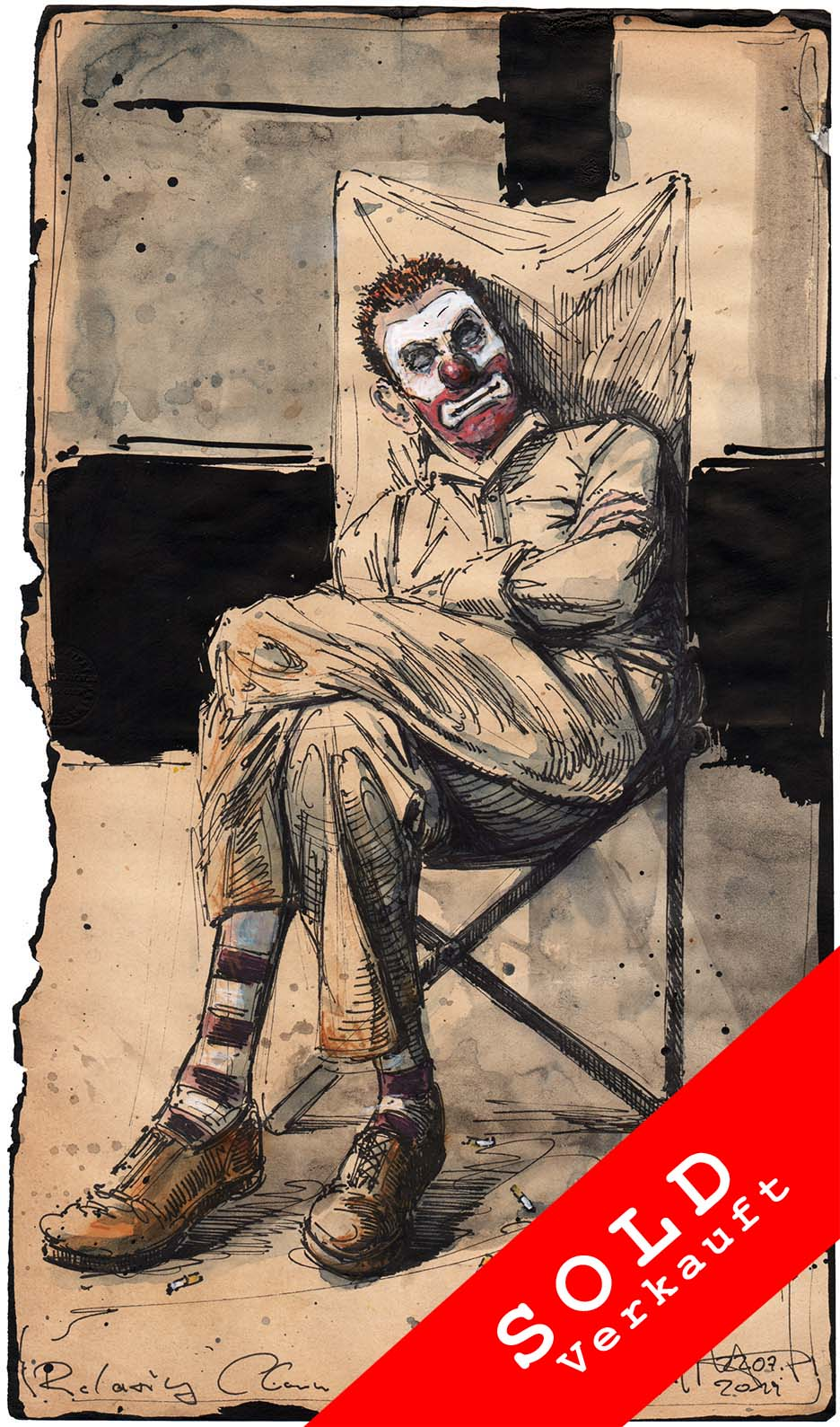 Relaxing clown