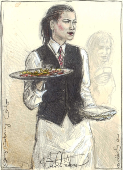 young-catering-lady